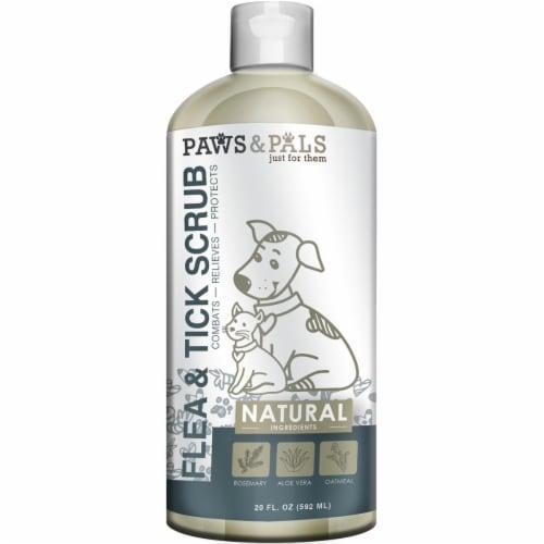 Paws & Pals PTFT-01-20 Flea & Tick Natural Dog Shampoo Perspective: front