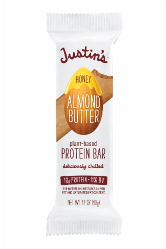 Justin's Honey Almond Butter Plant-Based Protein Bar Perspective: front