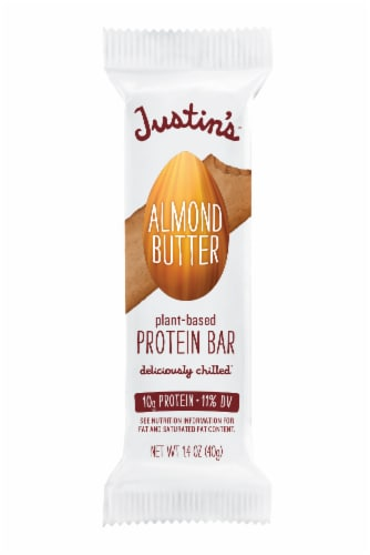 Justin's Maple Almond Butter Plant-Based Protein Bar Perspective: front