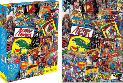 DC Comics Superman Comic Collage 1000 Piece Jigsaw Puzzle Perspective: front