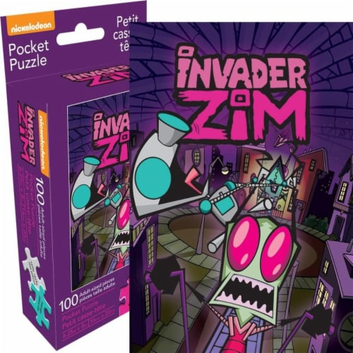Nickelodeon 807757 Invader Zim Adult Pocket Puzzle - 100 Piece Perspective: front