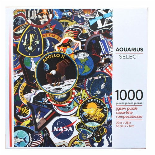 NASA Mission Patches 1000 Piece Jigsaw Puzzle Perspective: front