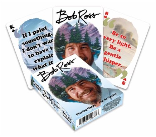 Bob Ross Quotes 2 Playing Cards | 52 Card Deck + 2 Jokers Perspective: front