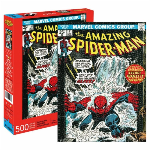 Spider-man 112569 Marvel Spider-Man Comic Cover Puzzle - 500 Piece Perspective: front