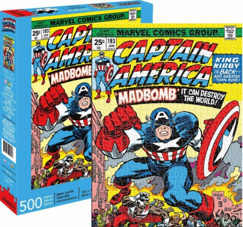 Marvel Captain America #193 Comic Cover 500 Piece Jigsaw Puzzle Perspective: front
