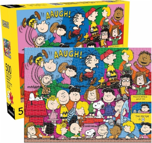 Peanuts Cast 500 Piece Jigsaw Puzzle Perspective: front
