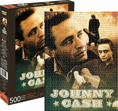 Johnny Cash 500 Piece Jigsaw Puzzle Perspective: front