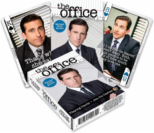 The Office Michael Quotes Playing Cards | 52 Card Deck + 2 Jokers Perspective: front