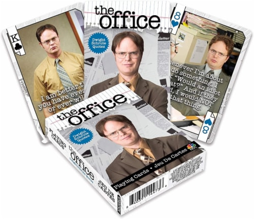 The Office Dwight Quotes Playing Cards | 52 Card Deck + 2 Jokers Perspective: front