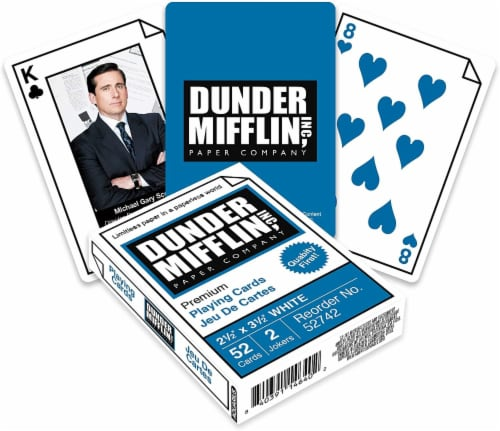 The Office Dunder Mifflin Playing Cards | 52 Card Deck + 2 Jokers Perspective: front