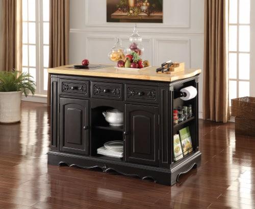 Ariuk - Kitchen Cabinet Antique Black (Granite Cutting Board) Perspective: front