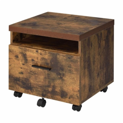 ACME Bob File Cabinet in Weathered Oak Perspective: front