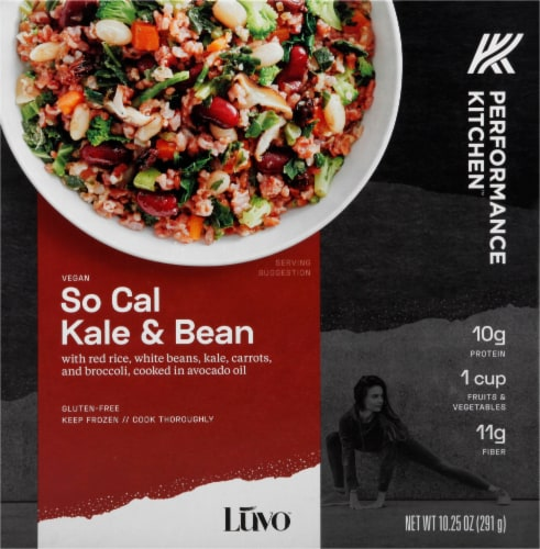 Luvo Performance Kitchen So Cal Kale & Bean Frozen Meal Perspective: front