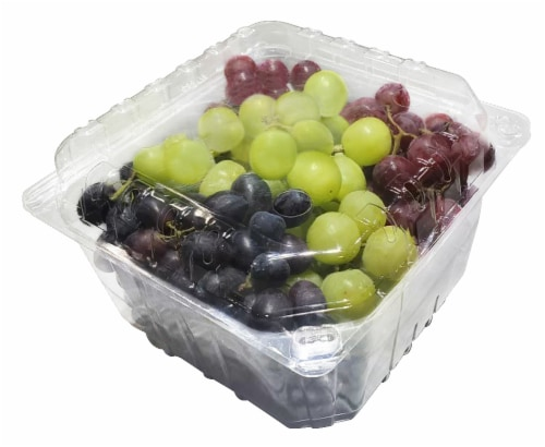 Tri-Color Clamshell Grapes Perspective: front