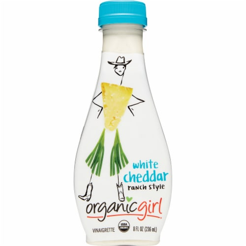 organicgirl White Cheddar Ranch Style Vinaigrette Dressing Perspective: front
