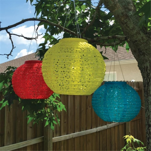 Smart Living 8533499 Assorted Polyester Chinese Lantern- pack of 12 Perspective: front