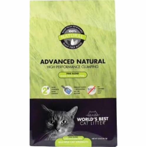 Worlds Best Cat Litter 96010178 Advanced Zero Mess Cat Pine Scented, 12 lbss Perspective: front