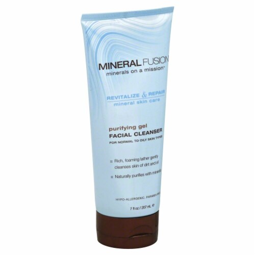 Mineral Fusion Purifying Gel Facial Cleanser Perspective: front