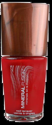 Mineral Fusion Crimson Clay Nail Polish Perspective: front