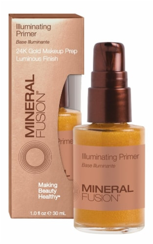 Mineral Fusion  Illuminating Primer with Shimmering Gold Flecks Perspective: front