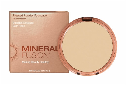 Mineral Fusion Olive 1 Pressed Powder Foundation Perspective: front