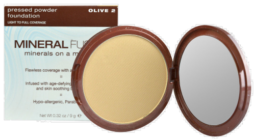 Mineral Fusion Olive 2 Pressed Powder Foundation Perspective: front