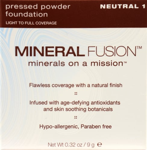 Mineral Fusion 1 Neutral Pressed Powder Foundation Perspective: front