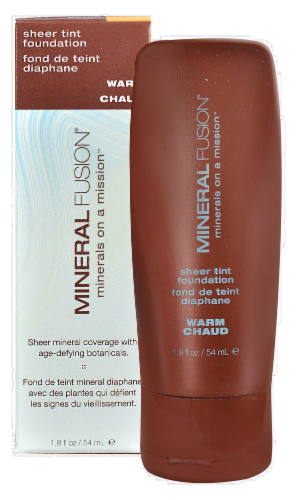 Mineral Fusion Warm Sheer Tint Foundation Perspective: front