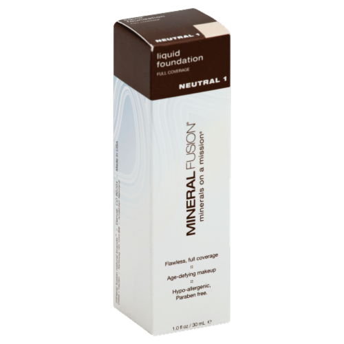 Mineral Fusion Neutral 1 Liquid Foundation Perspective: front