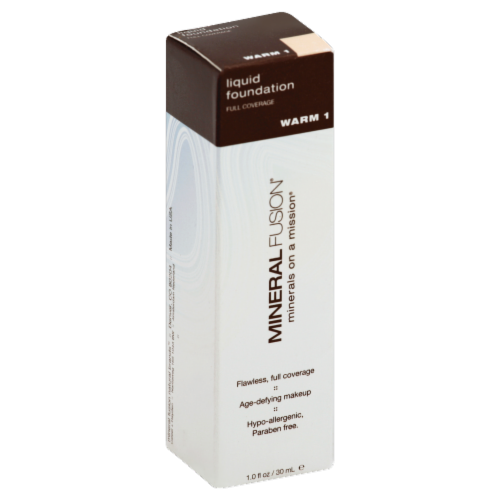 Mineral Fusion Warm 1 Liquid Foundation Perspective: front