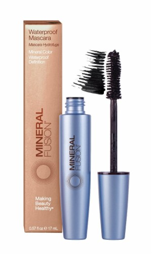 Mineral Fusion Waterproof Raven Mascara Perspective: front