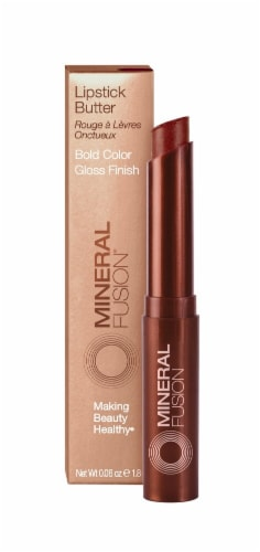 Mineral Fusion Pomegranate Lipstick Butter Perspective: front