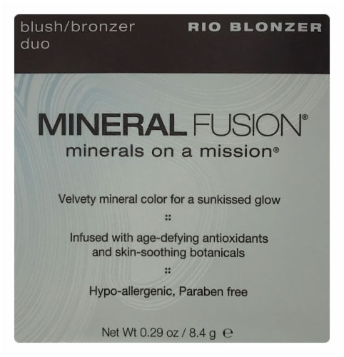 Mineral Fusion MF1304 Rio Blonzer Blush/Bronzer Duo Perspective: front