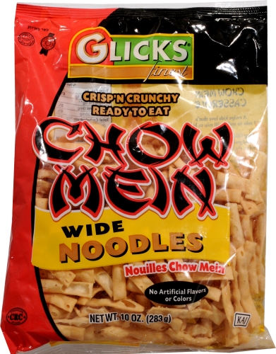 Glicks Chow Mein Wide Noodles Perspective: front
