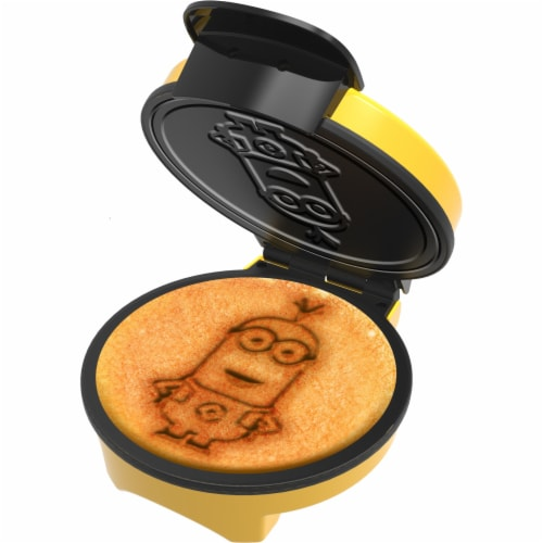 Uncanny Brands Minions Kevin Waffle Maker- Iconic Minion on Your Waffles - Waffle Iron Perspective: front