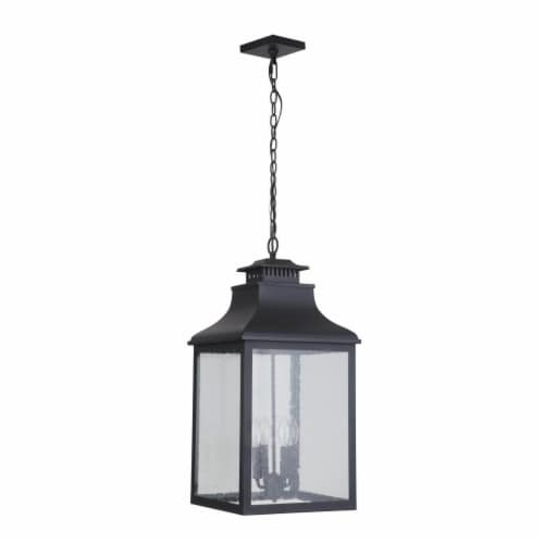 Mariana Home 313212 Drake II Four Light Outdoor Hanging Lantern - Black Perspective: front
