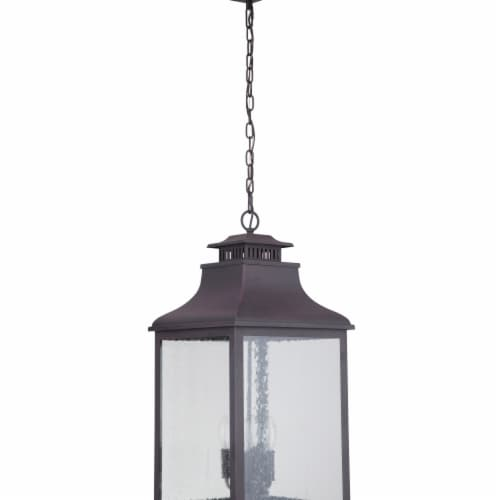 Mariana Home 313277 Drake II Four Light Outdoor Hanging Lantern, Medium - Bronze Perspective: front