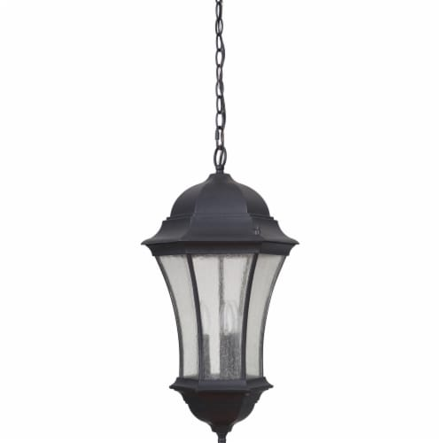 Mariana Home 513212 Crandall 3 Light Outdoor Hanging Lantern - Black Perspective: front