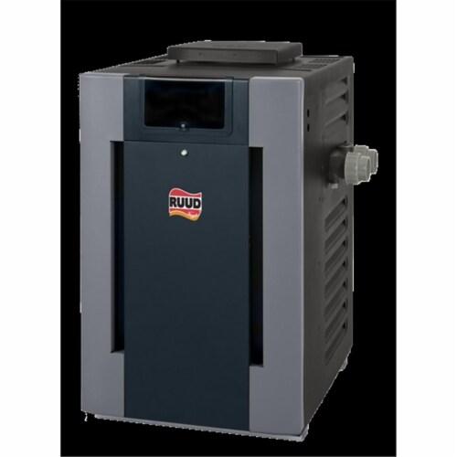 Ruud 010009 57 lbs P-D406A Digital Polymer Pool & Spa Heater 399000 BTU, Liquid Propane Burne Perspective: front