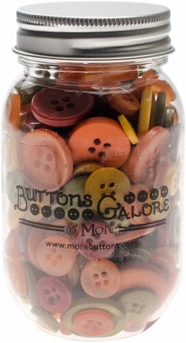 Buttons Galore Button Mason Jars-Harvest Perspective: front