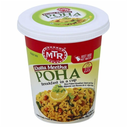 MTR Khatta Meetha Poha Breakfast In A Cup Perspective: front