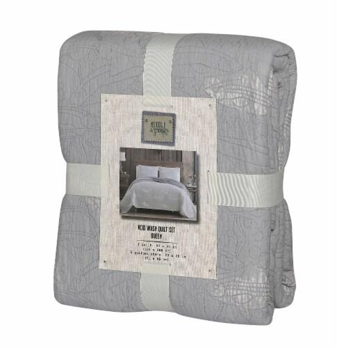Denim Trading Post Needle & Pine Acid Wash Quilt Set - 3 Piece - Gray Perspective: front