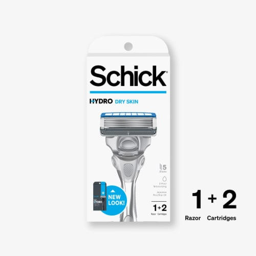 Schick Hydro 5 Skin Comfort Dry Skin Razor and Cartridges Perspective: front