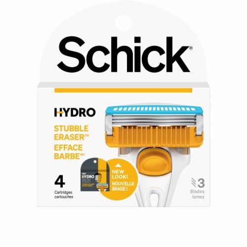 Schick Hydro Skin Comfort Stubble Eraser Blade Refills Perspective: front
