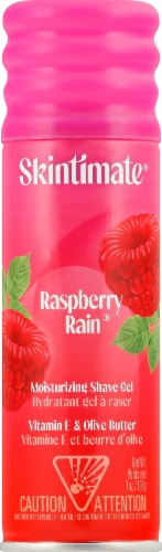 Skintimate Signature Scents Moisturizing Raspberry Rain Shave Gel Perspective: front