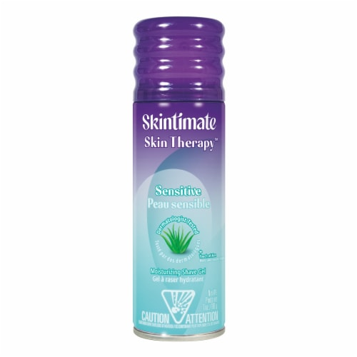 Skintimate Skin Therapy Sensitive Skin Vitamin E Lotionized Shave Gel Perspective: front