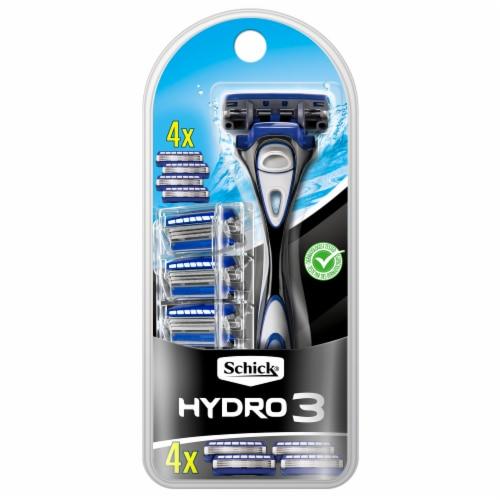 Schick Hydro 3 Razor with Cartridge Refills Perspective: front