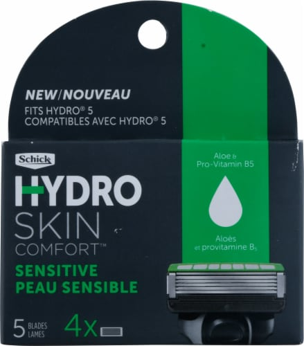 Schick Hydro 5 Sensitive Refill Cartridges Perspective: front