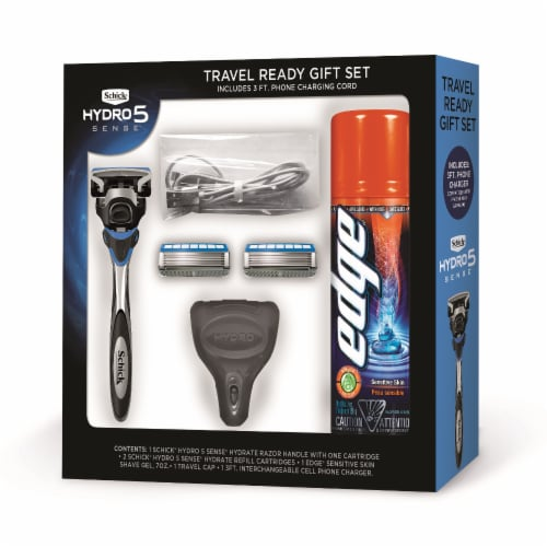 Schick Hydro5 Sensitive Razor Holiday Gift Set Perspective: front
