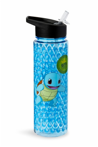 Pokemon Squirtle 16oz Water Bottle - BPA-Free Reusable Drinking Bottles Perspective: front